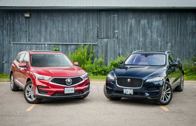 SUV Comparison: 2019 Acura RDX vs. 2018 Jaguar F-Pace