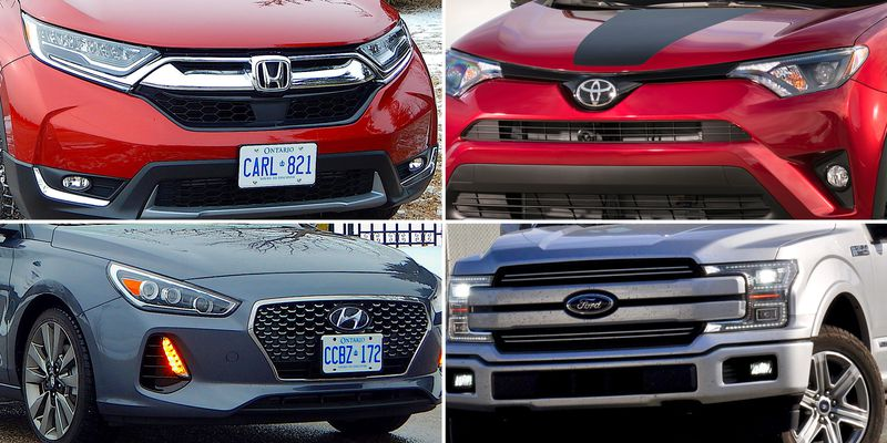 Canada's 10 best selling vehicles in the first three quarters of 2018