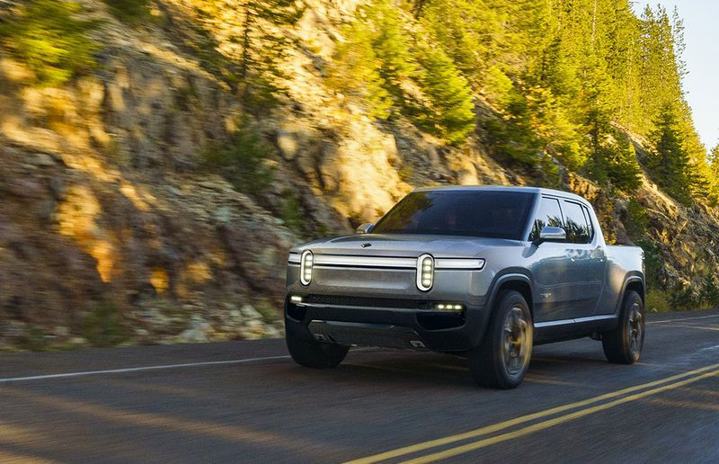 The Rivian is a new U.S. all-electric pickup with sports-car acceleration