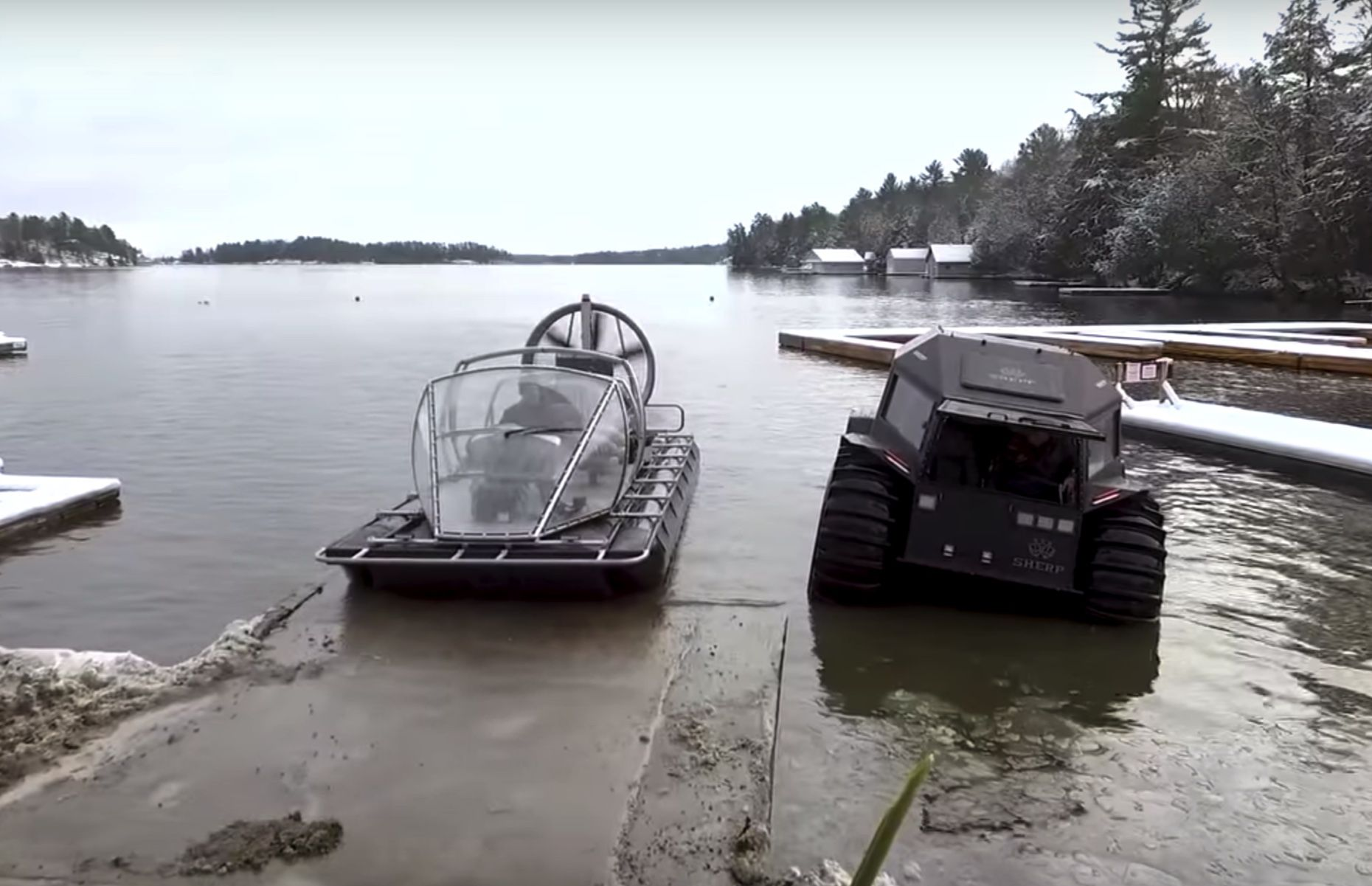 video- check out these two rugged amphibious vehicles built for (and now in) the canadian north
