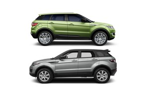 The Landwind X7 (top) and the Land Rover Range Rover Evoque
