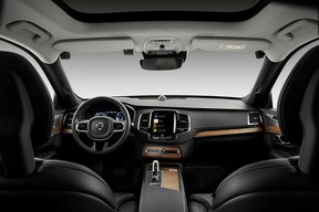 The interior of a Volvo prototype with cameras and sensors to detect if the driver is drunk.