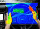 Jaguar Land Rover develops wheel that warms to help with navigation