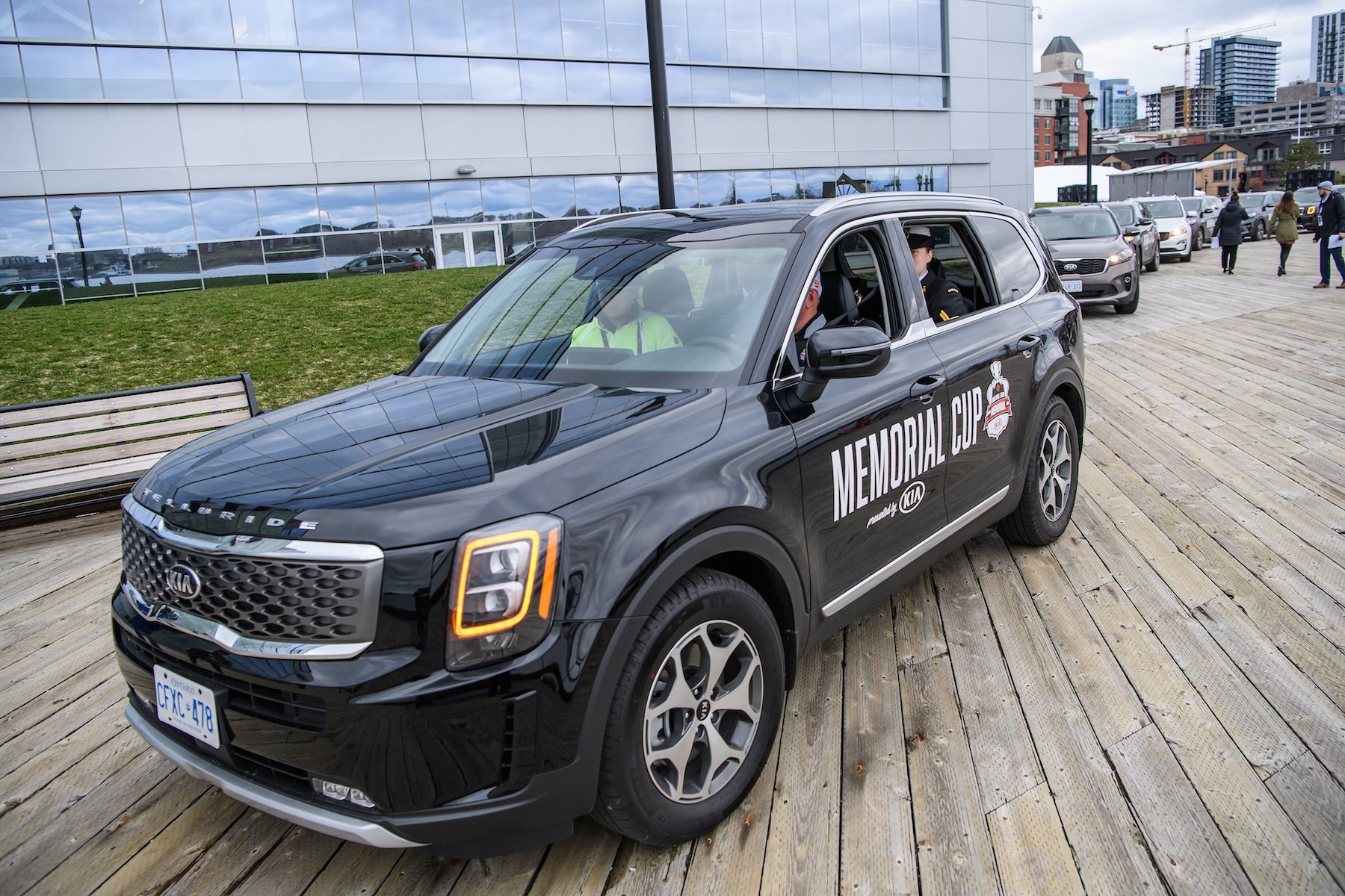 Kia Telluride at the Memorial Cup