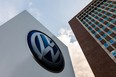 The picture taken on July 26, 2016 in Wolfsburg shows the Volkswagen logo.