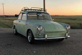 Jason Brunner's 1963 Volkswagen Notchback is mostly original, although it does have aftermarket wheels and it's been lowered slightly to alter the stance. All could be easily returned to stock with little fuss.