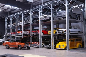 Forty-two collector vehicles owned by Vancouver car dealer Moray Keith who was the biggest single consigner at the 2020 Barrett-Jackson auction in Scottsdale in storage before the sale.