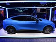 Ford's Mustang Mach E GT, an all-electric model scheduled for delivery at the end of the year, is displayed at the Ford booth during CES 2020 at the Las Vegas Convention Center on January 7, 2020 in Las Vegas, Nevada.