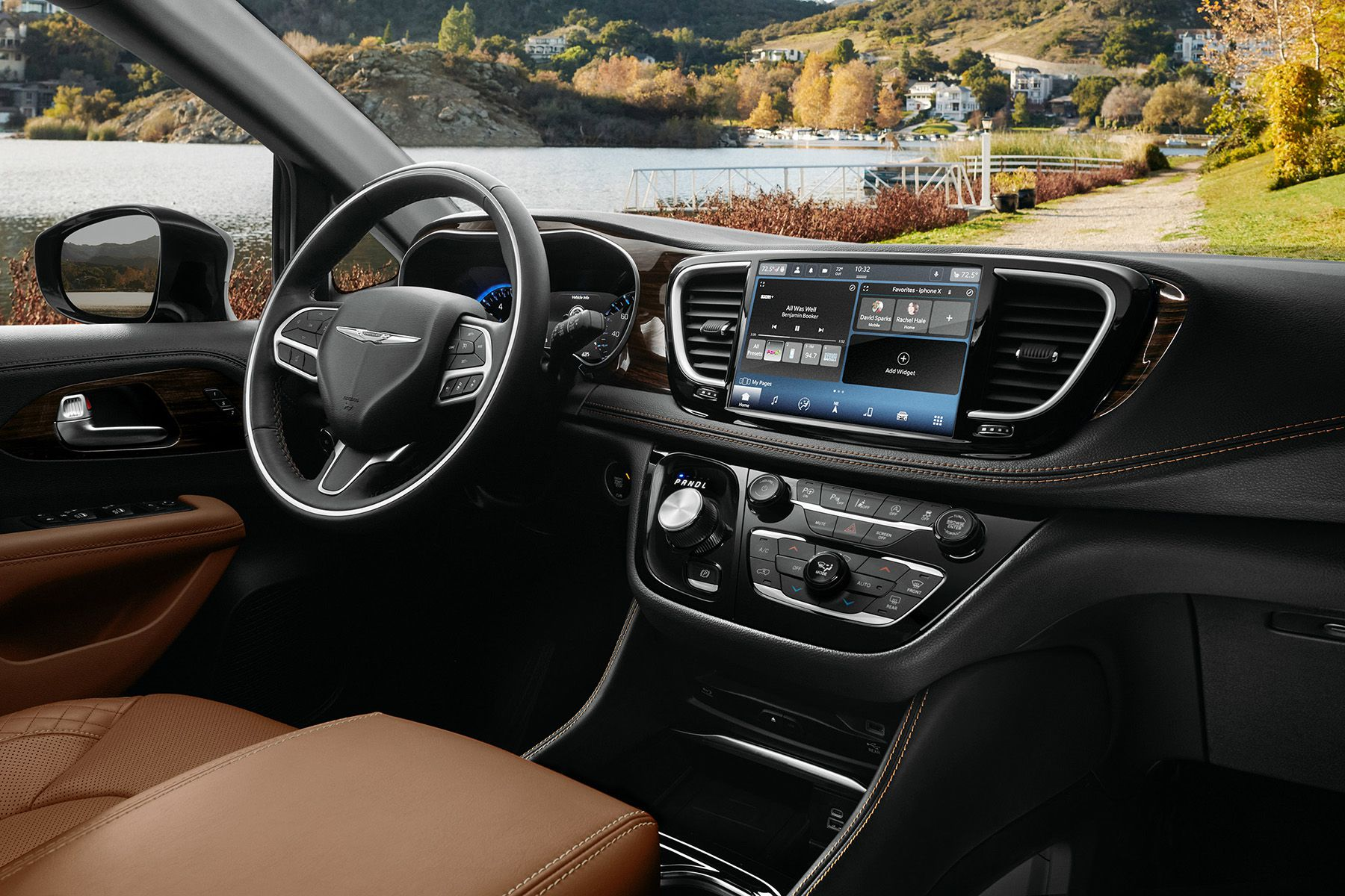 The interior of the 2021 Chrysler Pacifica Pinnacle model incl