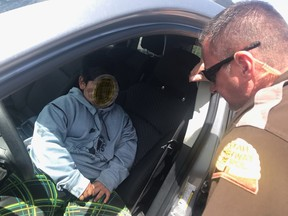 An image of the boy's encounter with Utah police.