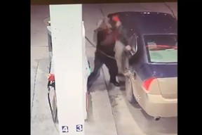 brandon police searching for man who damaged gas pump
