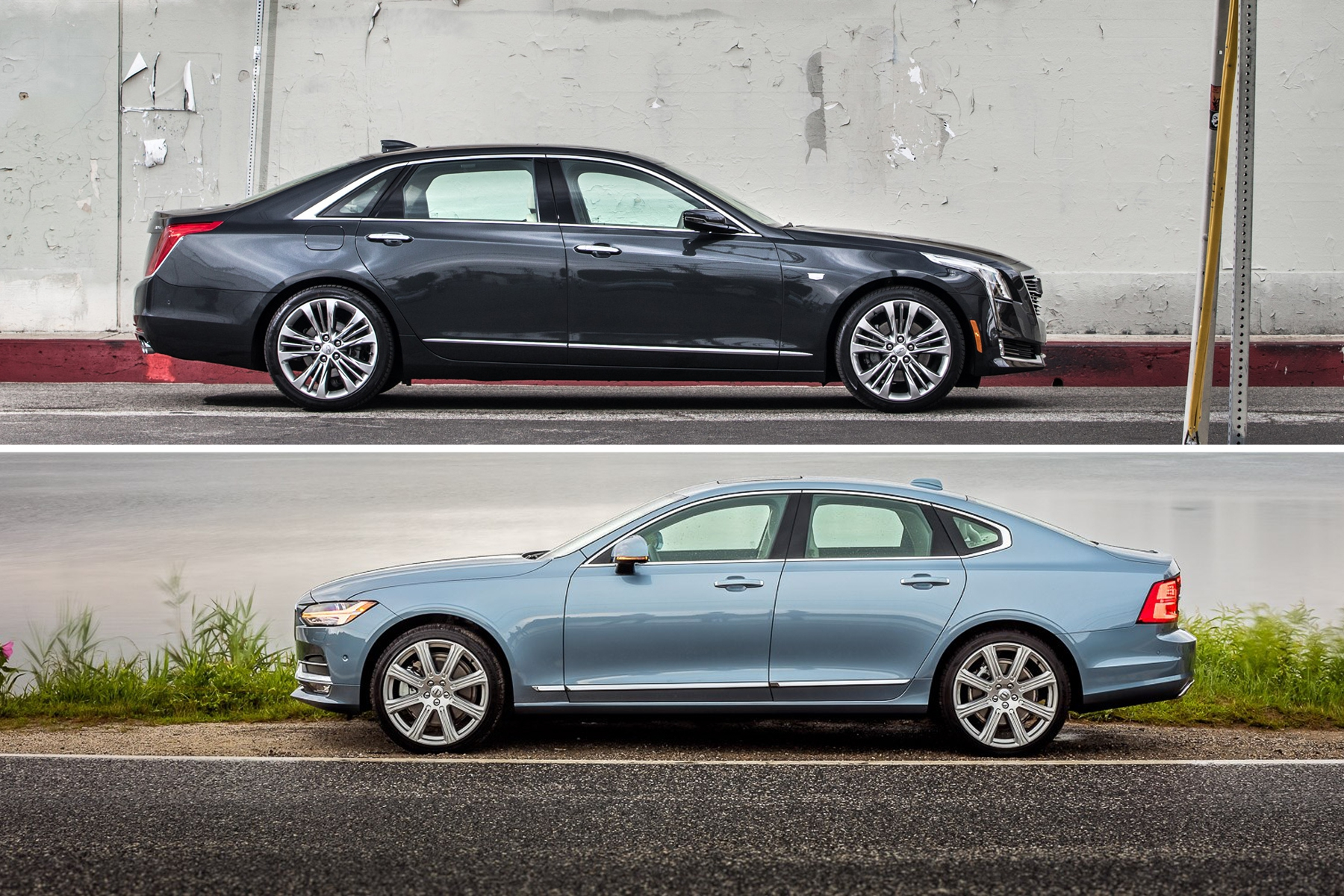 Cadilac CT6 and Volvo S90
