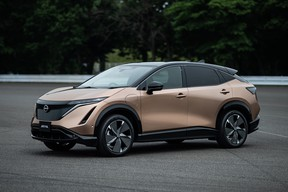 The all-electric Nissan Ariya is expected to go on sale in Canada in late-2021.