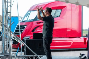 Nikola founder Trevor Milton at a July 2020 groundbreaking event for its plant in Arizona
