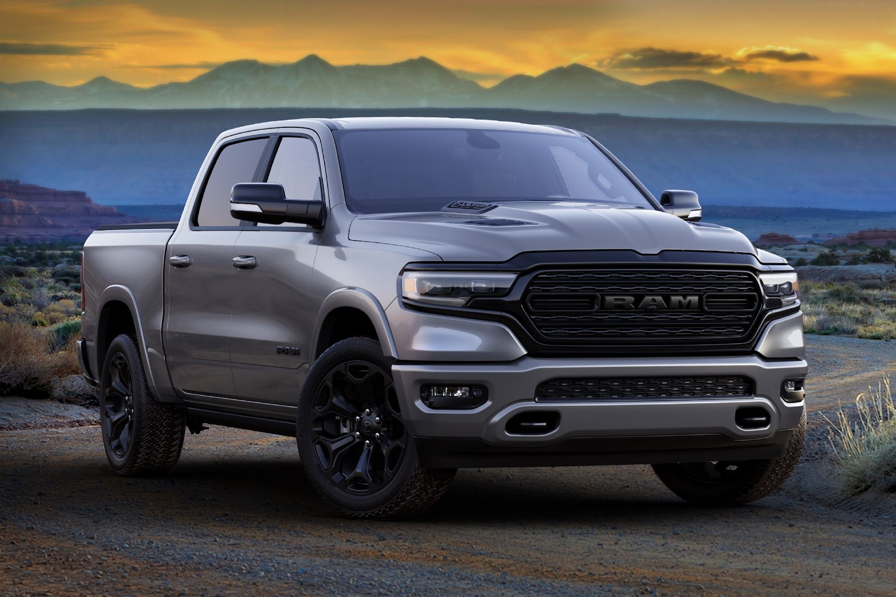2021 Ram 1500 Limited Night front 3/4
