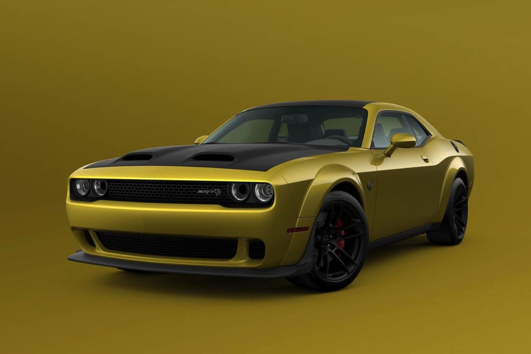 2021 Dodge Challenger SRT Hellcat Widebody shown in Gold Rush exterior paint color