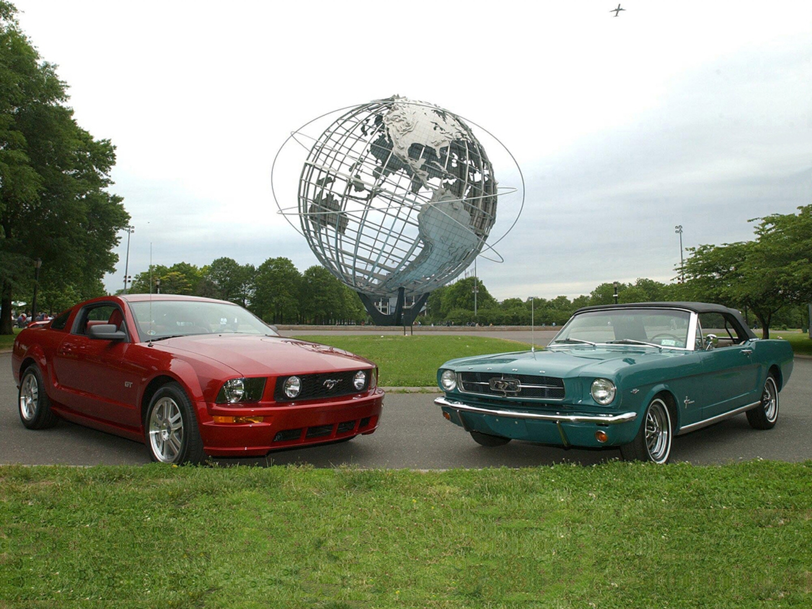 2005 and 1965 Mustangs