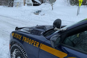 Man burried in snow drift for 10 hours