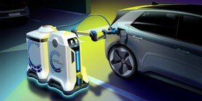Volkswagen Group's prototype autonomous charger comes right to your vehicle