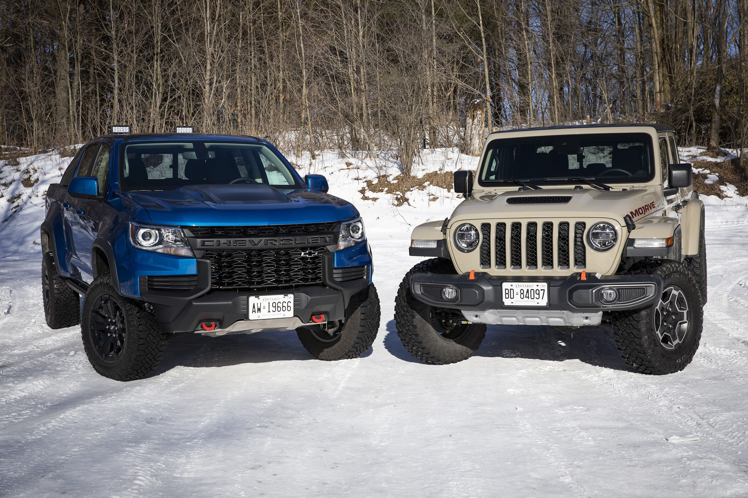 Chevrolet Colorado ZR2 vs Jeep Gladiator Mojave