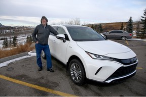Brian Byl with the 2021 Toyota Venza Limited he drove around Calgary for a week.