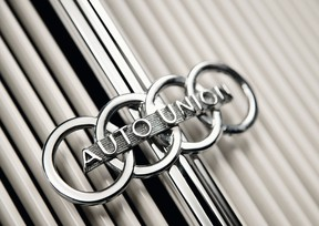 The four rings of the Auto Union, which became Audi AG