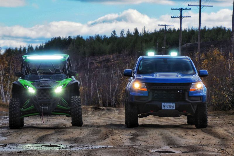 The Kawasaki KRX 1000 and Chevy Colorado ZR2
