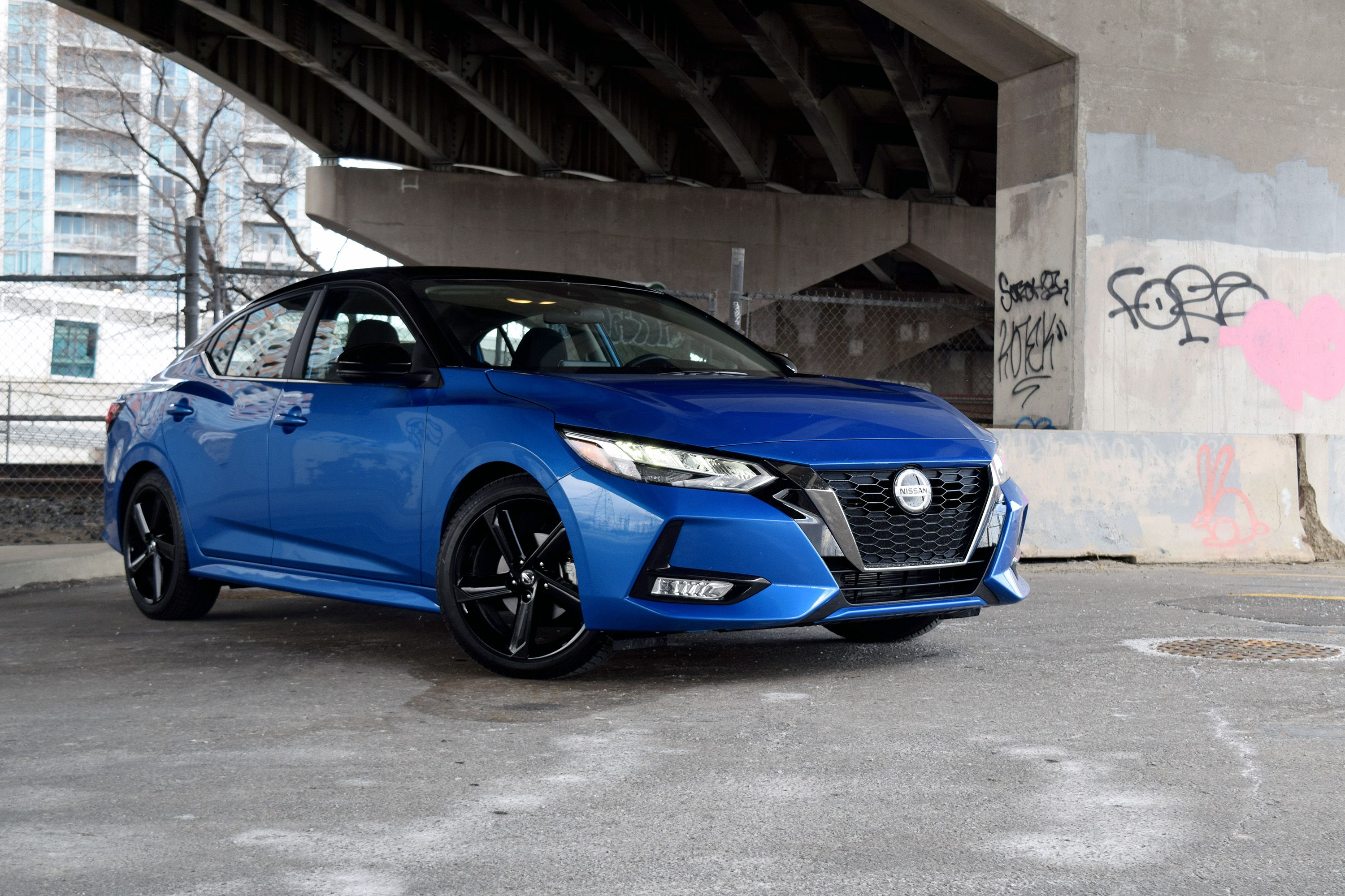 2021 Nissan Sentra Review - Exterior - Front 3Q Angle 2