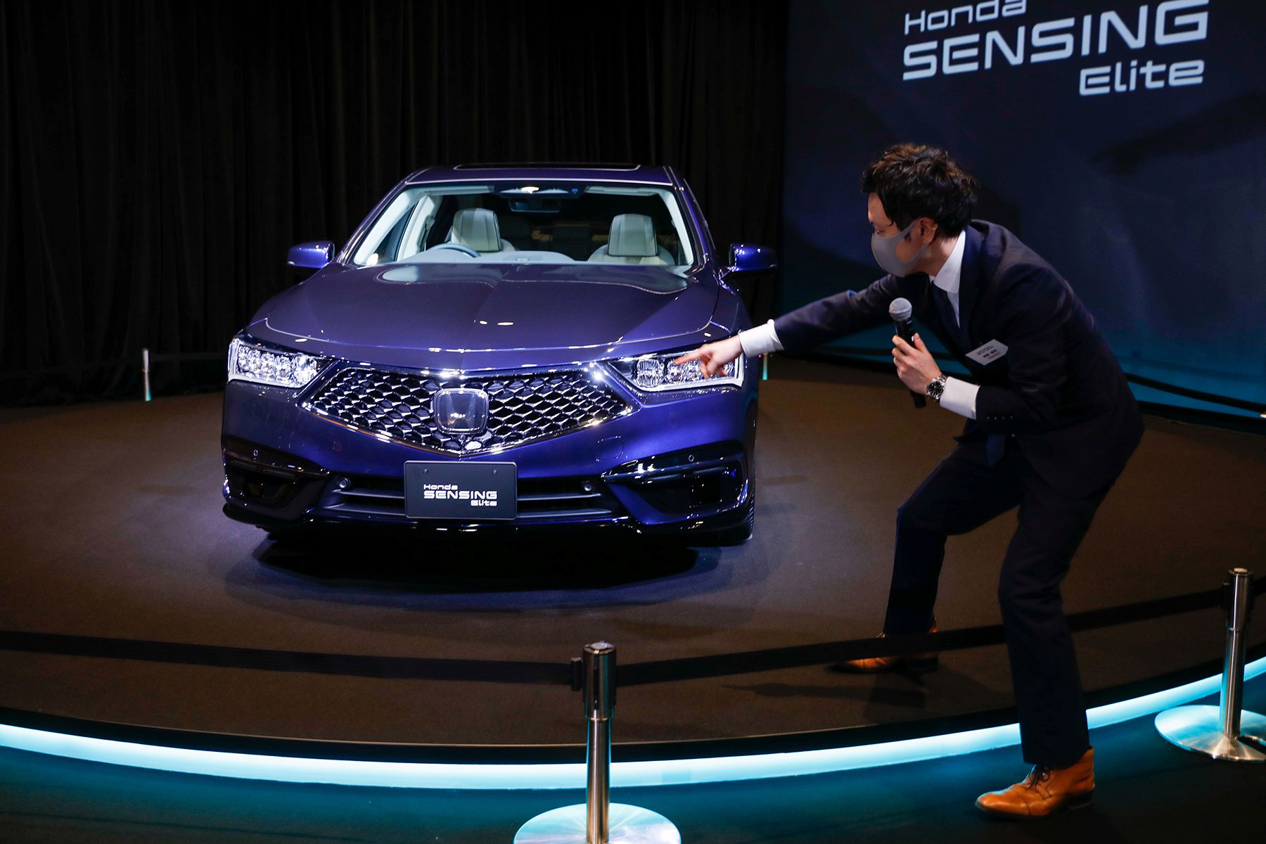 Honda Motor Co. Ltd's all-new Legend sedan is seen during an unveiling in Tokyo