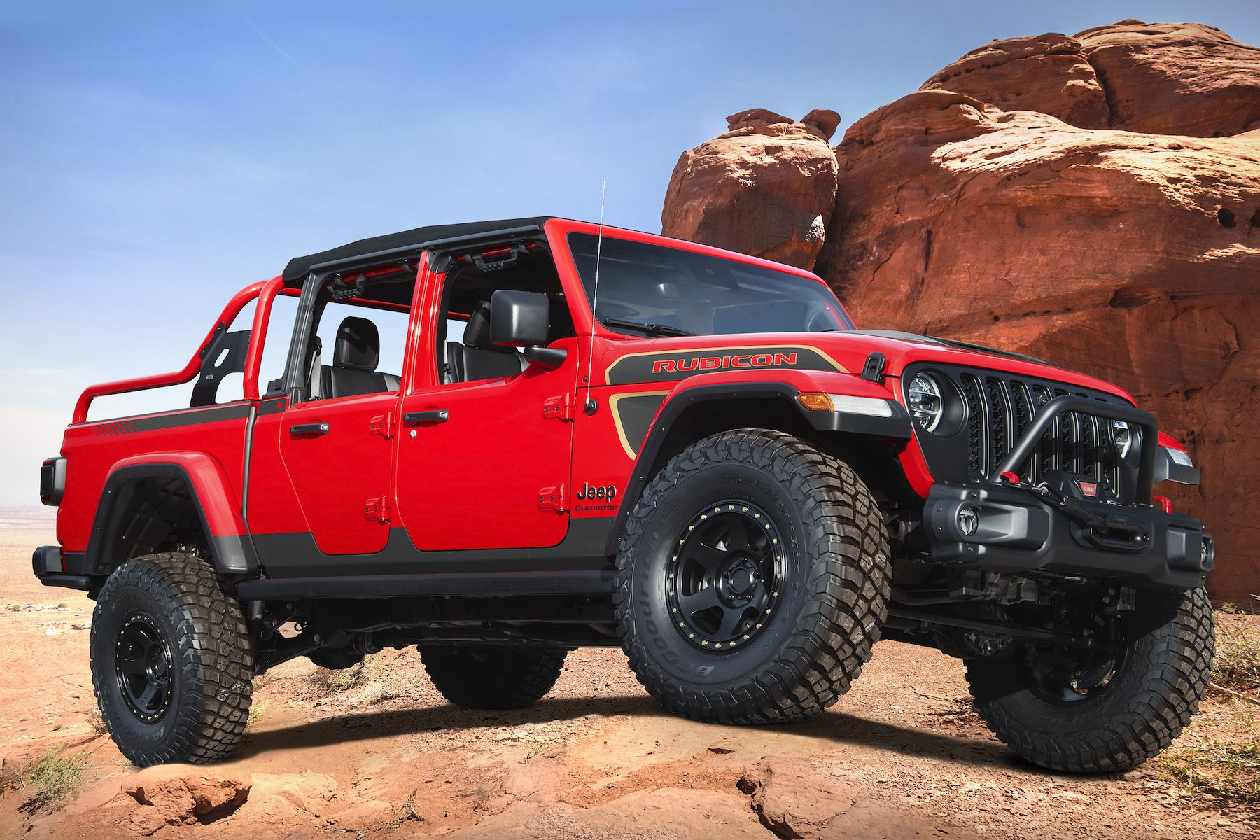 Jeep Red Bare Gladiator Rubicon