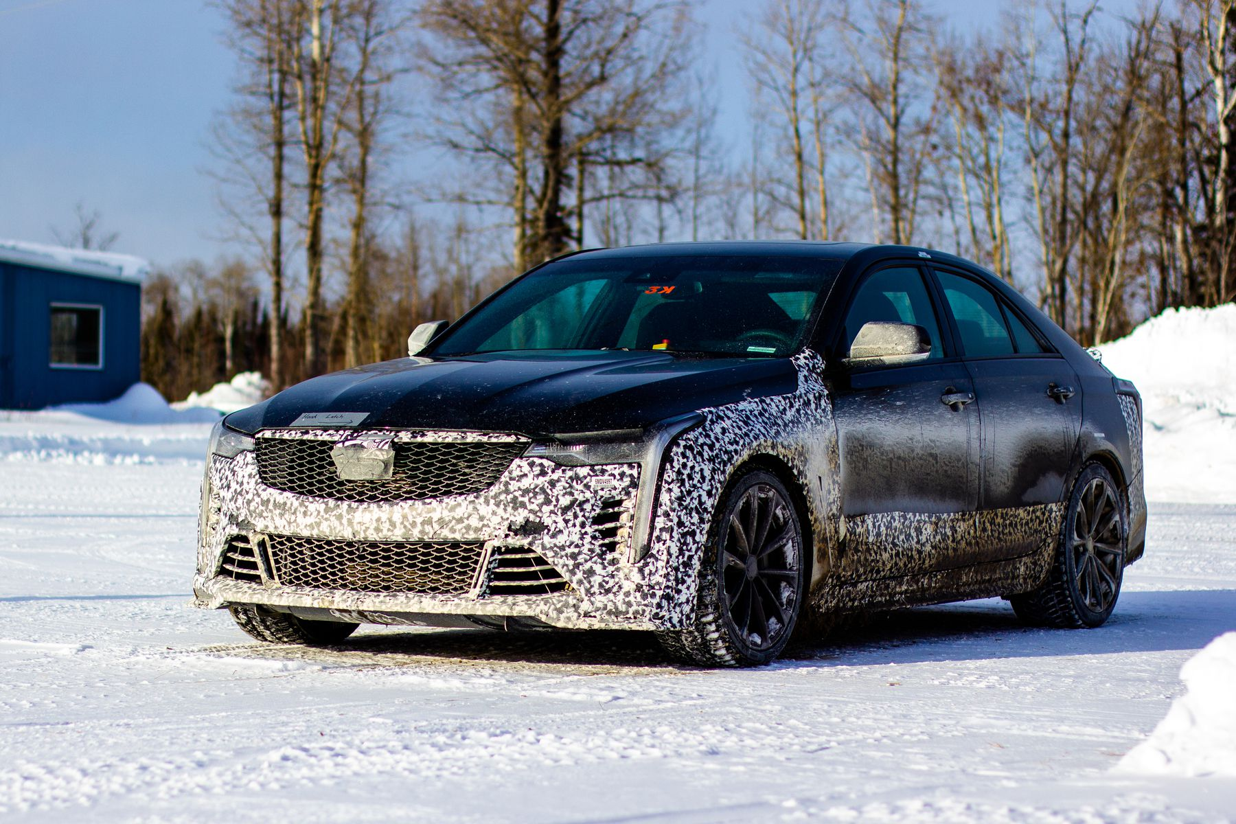 The Cadillac Blackwing undergoes testing