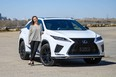 Dionne Dillabaugh with the 2021 Lexus RX350 she and her family tested out for a week in and around Calgary.