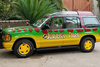 A replica of a Ford Explorer from 'Jurassic Park'