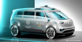 Volkswagen said its all-electric ID BUZZ will be its first vehicle with fully-autonomous driving features