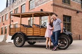 Darren Lloyd and Sujung Kim included the 1926/1927 Ford Model T in their engagement photos taken in June of 2018.