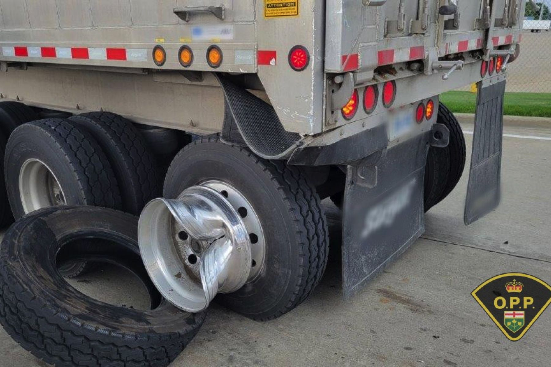 Triple trucker tire trouble- The wheels were coming off on Ontario highways this week