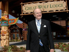 Jim Pattison at the opening of Great Wolf Lodge Niagara Falls in 2006. His company also owns Ripley's Believe It or Not! franchise and Guinness World Records.