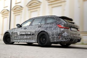 An Instagram teaser of the 2022 BMW M3 Touring