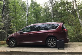Camping in Atikokan with the 2021 Chrysler Pacifica Pinnacle Hybrid