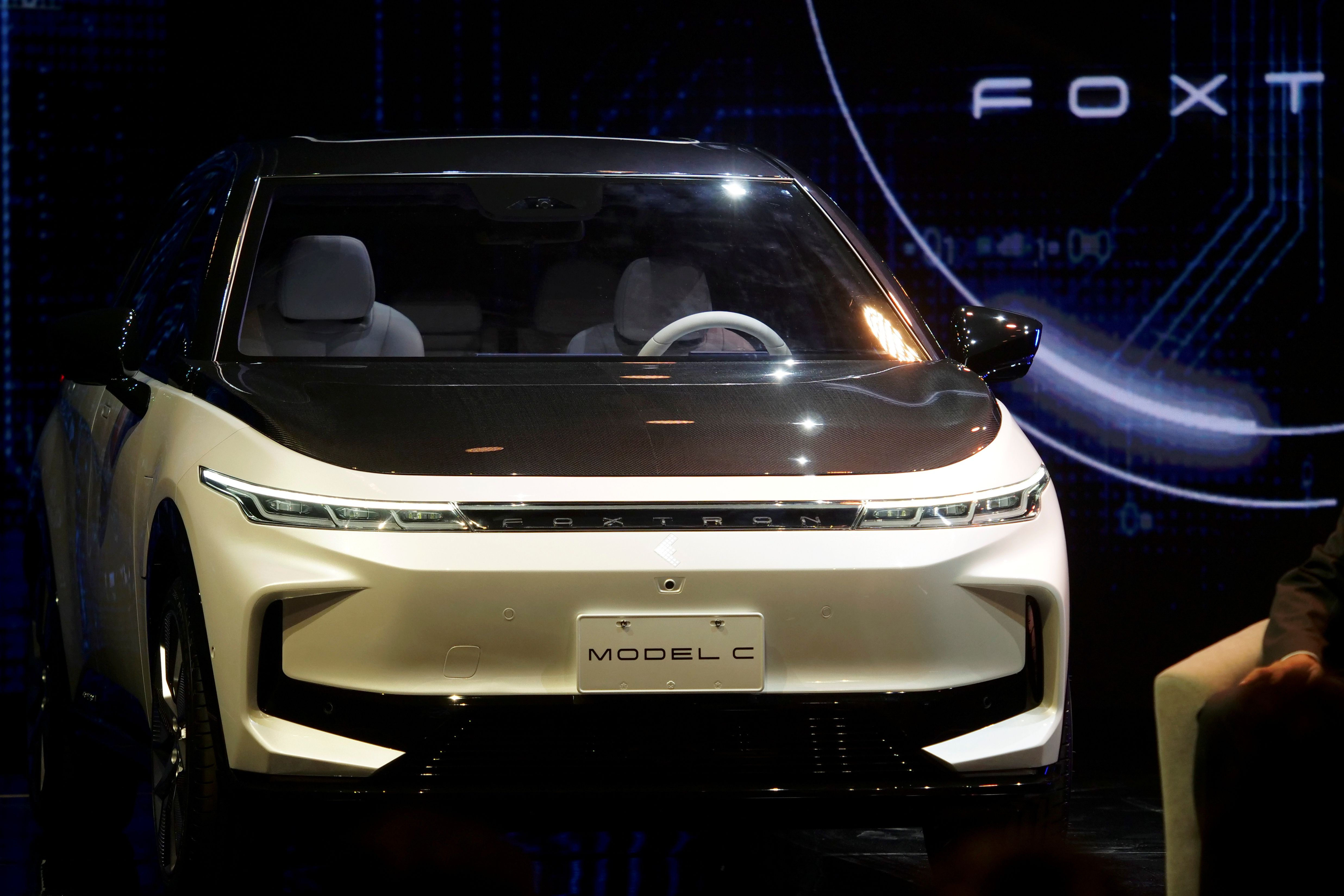 Foxtron electric vehicles unveiled at a Foxconn event in Taipei