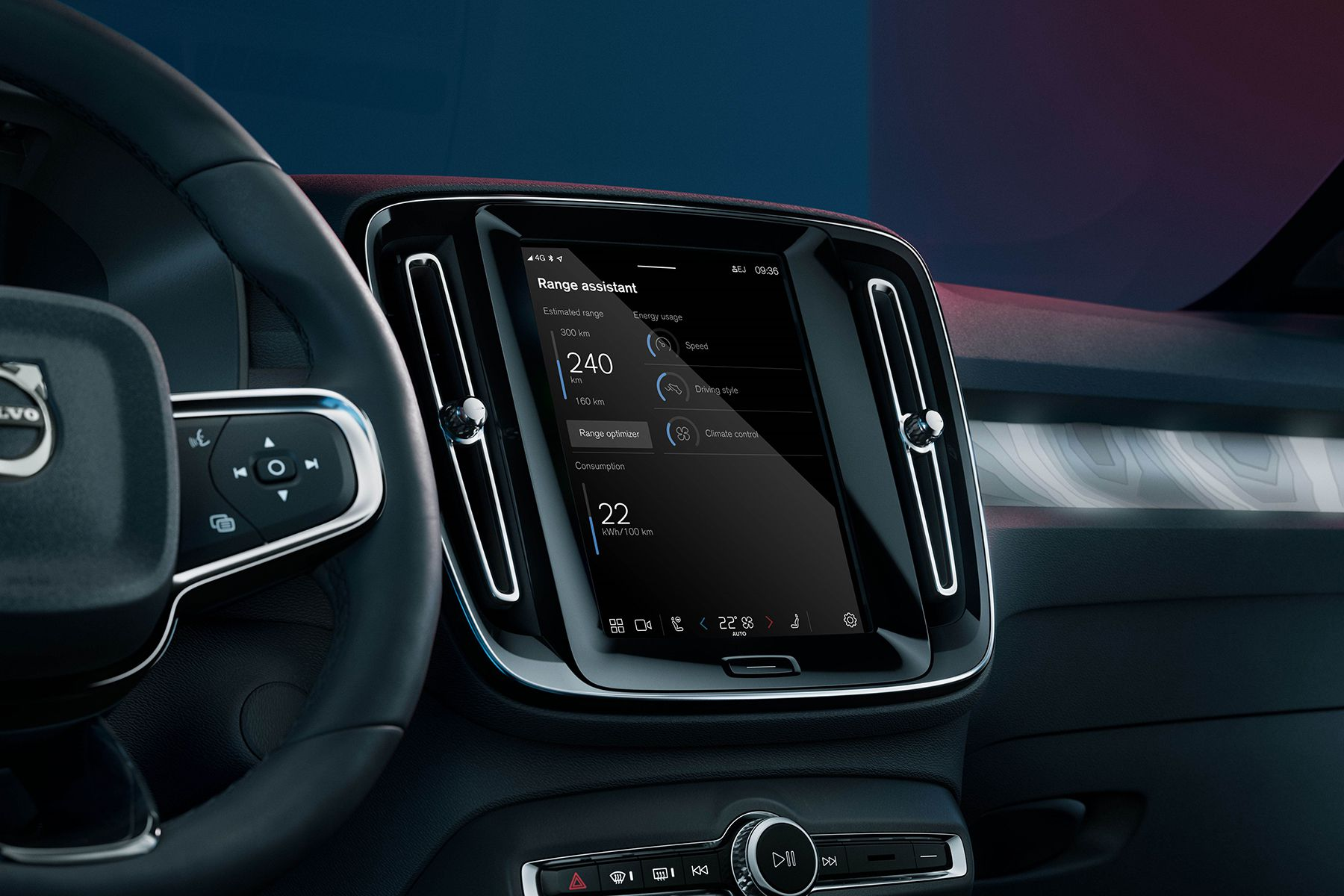 Volvo Cars' new Range Assistant app for fully electric cars