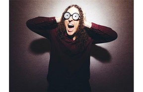 Weird Al Yankovic poses for a portrait in Los Angeles.