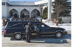 The funeral for Zia's sister, eight-month-old Zahra, is held Thursday at the Al Rashid Mosque in Edmonton.