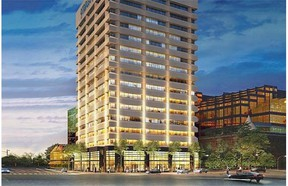 An artist's rendering of the redeveloped 9Triple8 Jasper Building, which has announced its latest office tenant, Associated Engineering.