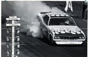 """Edmonton Speedway Park opened its new strip in 1967. Don """"The Snake"""" Prudhomme set a drag racing world record there in 1971."""