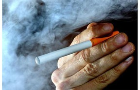 A person holds an electronic cigarette in a file photo.