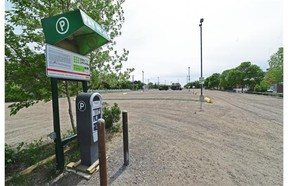 The gravel parking lot across 103 Street from the Strathcona Farmers' Market in Edmonton on Friday May 29, 2015.