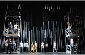 Louisiana State Penitentiary in Angola, in Opera Nuova's production of Jake Heggie's opera Dead Man Walking at Festival Place, Sherwood Park