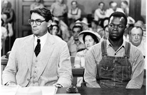 Gregory Peck, left, played Atticus Finch in the film To Kill a Mockingbird. Last year in Alberta, 20 boys and one girl were named Atticus.
