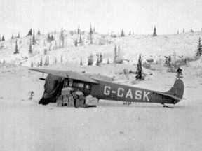 Plane used by Punch Dickins in 1928 to make historic first aerial flight over the Barren Lands of the Northwest Territories.